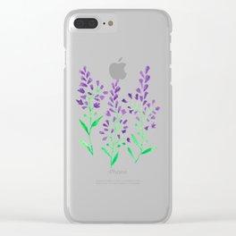 Purple Delphinium Clear iPhone Case