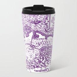 Map of Bohemia (purple) Metal Travel Mug