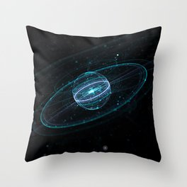 Space & Particles - GodEye 01 Throw Pillow