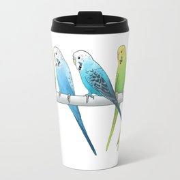 Row of Budgies Travel Mug
