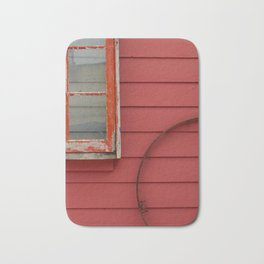 Colorful Red and Pantone Coral Building Exterior Bath Mat