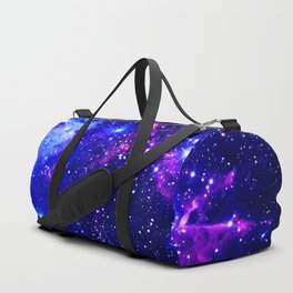 Fox Fur Nebula Galaxy blue purple Duffle Bag