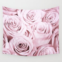 Pink Roses Flowers - Rose and flower pattern Wall Tapestry