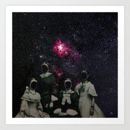Untergang · Der Blick ins Universum Art Print