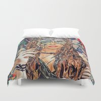 cookie monster Duvet Covers featuring Cookie by Katy Hirschfeld
