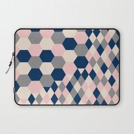 Honeycomb Blush and Grey Laptop Sleeve