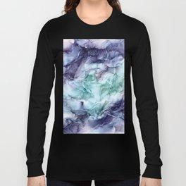 Growth- Abstract Botanical Fluid Art Painting Long Sleeve T-shirt