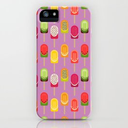 Fruit popsicles - pink version iPhone Case
