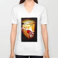 volkswagen V-neck T-shirts featuring Volkswagen 99 by Justin Alan Casey