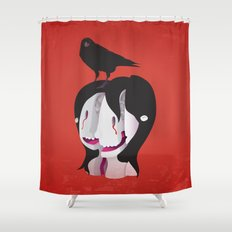 Shattered Mind Shower Curtain