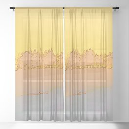 Grove of trees in gold and glow Sheer Curtain
