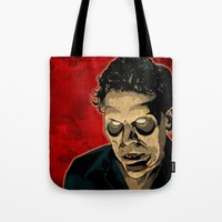ed sheeran Tote Bags featuring ED by Doktorsour