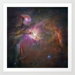 The Orion Nebula by Hubble Space Telescope Art Print