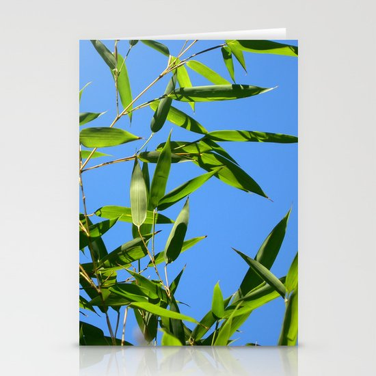 green bamboo II Stationery Cards