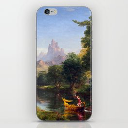 Thomas Cole The Voyage of Life Youth iPhone Skin