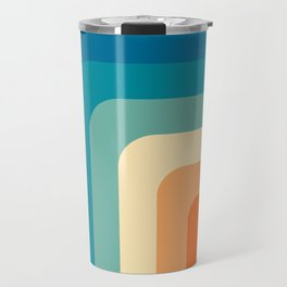 80s Vintage pattern Travel Mug