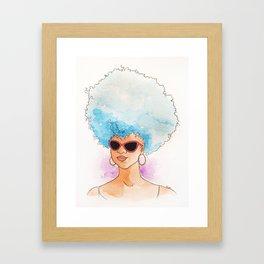 Black Blue Framed Art Print