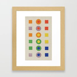 Chevreul Laws of Contrast of Colour, Plate VI, 1860, Remake, vintage wash Framed Art Print