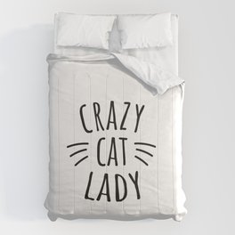 Crazy Cat Lady Comforters