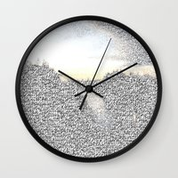 death note Wall Clocks featuring Note This by stefani187