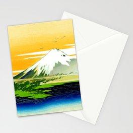 Vintage Mount Fuji Japanese Woodcut Print Stationery Cards