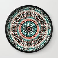 islam Wall Clocks featuring Endless mandala by Rceeh