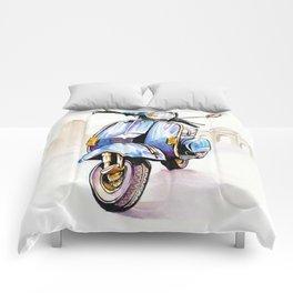 Azzurro Vespa (Motocicletalia) Comforters