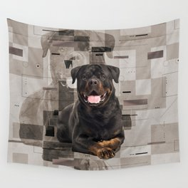 Rottweiler  - Metzgerhund Digital Art Wall Tapestry