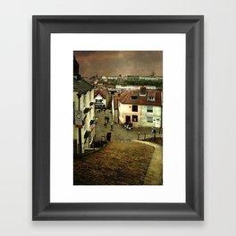 Whitby from The Steps Framed Art Print