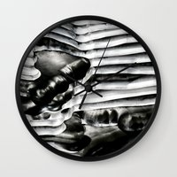 metal Wall Clocks featuring Metal by Christine Becksted Images