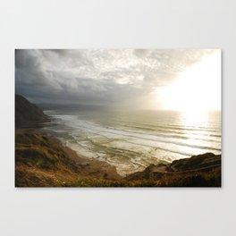 Nature photography. Barrika Beach, Basque Country. Spain. Canvas Print