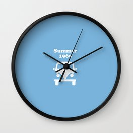 Summer 1969 -  lt. blue Wall Clock