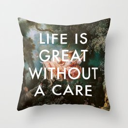Swing Without A Care Throw Pillow