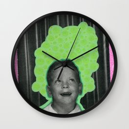 Listening The Bubbles Wall Clock