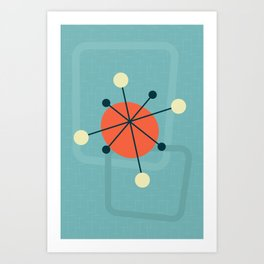 Mid century atomic design Art Print