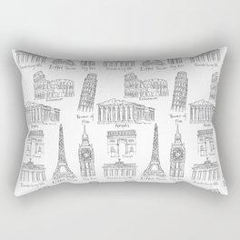 Europe at a glance Rectangular Pillow