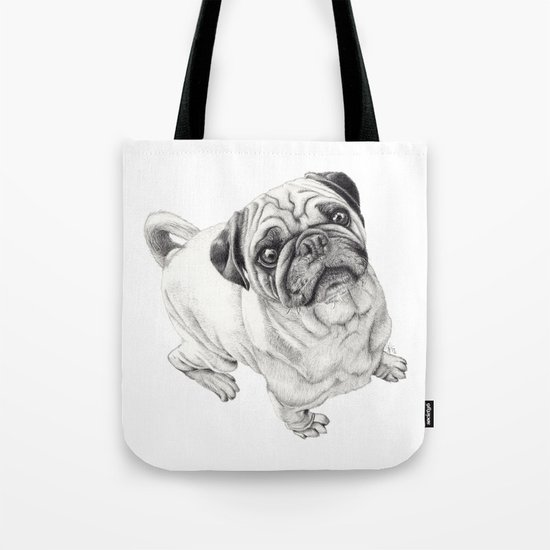Seymour the Pug Tote Bag