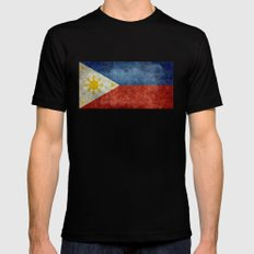 Republic of the Philippines national flag (50% of commission WILL go to help them recover) MEDIUM Mens Fitted Tee Black