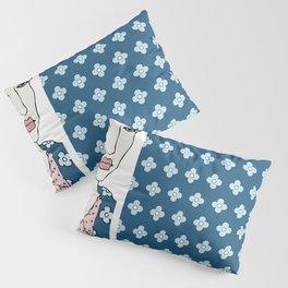 Blue Flowers of China Pillow Sham