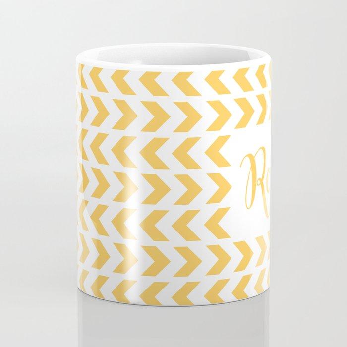Read - Yellow Pattern Coffee Mug