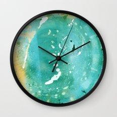Blue Fantasy Planet Wall Clock