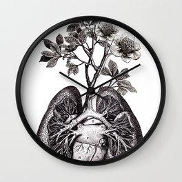 Flourishing Lungs Wall Clock
