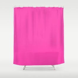 Fluorescent Neon Pink // Pantone® 806 U Shower Curtain