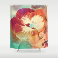 tiki Shower Curtains featuring Tiki Tiki by Ginger Del Rey