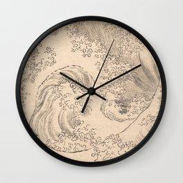 Wave by Katsushika Hokusai 1760–1849, Japanese Wall Clock