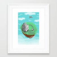 castle in the sky Framed Art Prints featuring Sky Castle by wkdowd