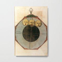 Peter Apian - Astronomicum Caesareum 1540 - 24 Illustration of the Total Lunar Eclipse, October 1550 Metal Print