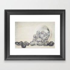 Spilled Blueberries Framed Art Print