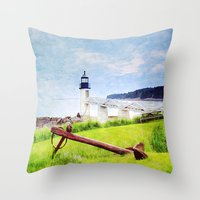 maine Throw Pillows featuring Beautiful Maine by ThePhotoGuyDarren
