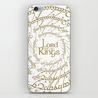 lord of the rings iPhone & iPod Skins featuring LORD OF THE RINGS by MiliarderBrown